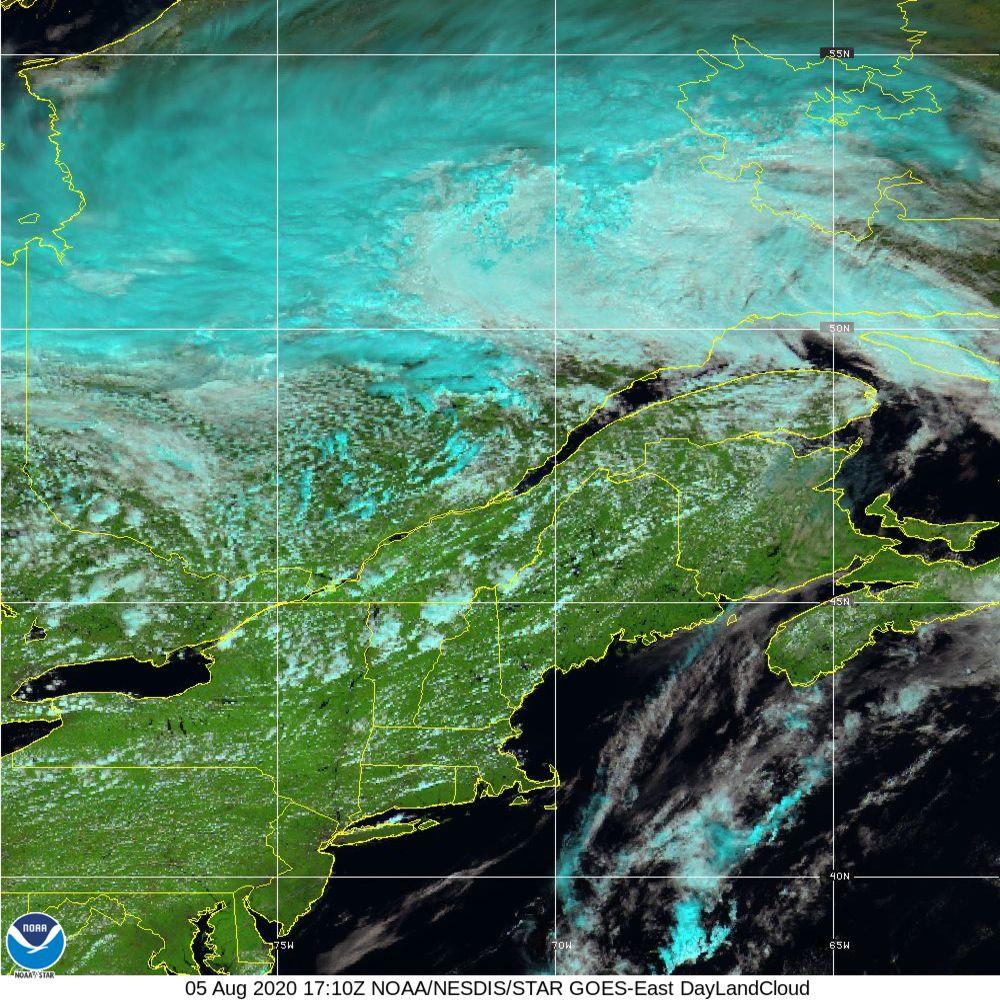 Day Land Cloud - EUMETSAT Natural Color - 05 Aug 2020 - 1710 UTC