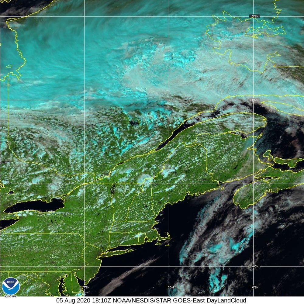 Day Land Cloud - EUMETSAT Natural Color - 05 Aug 2020 - 1810 UTC