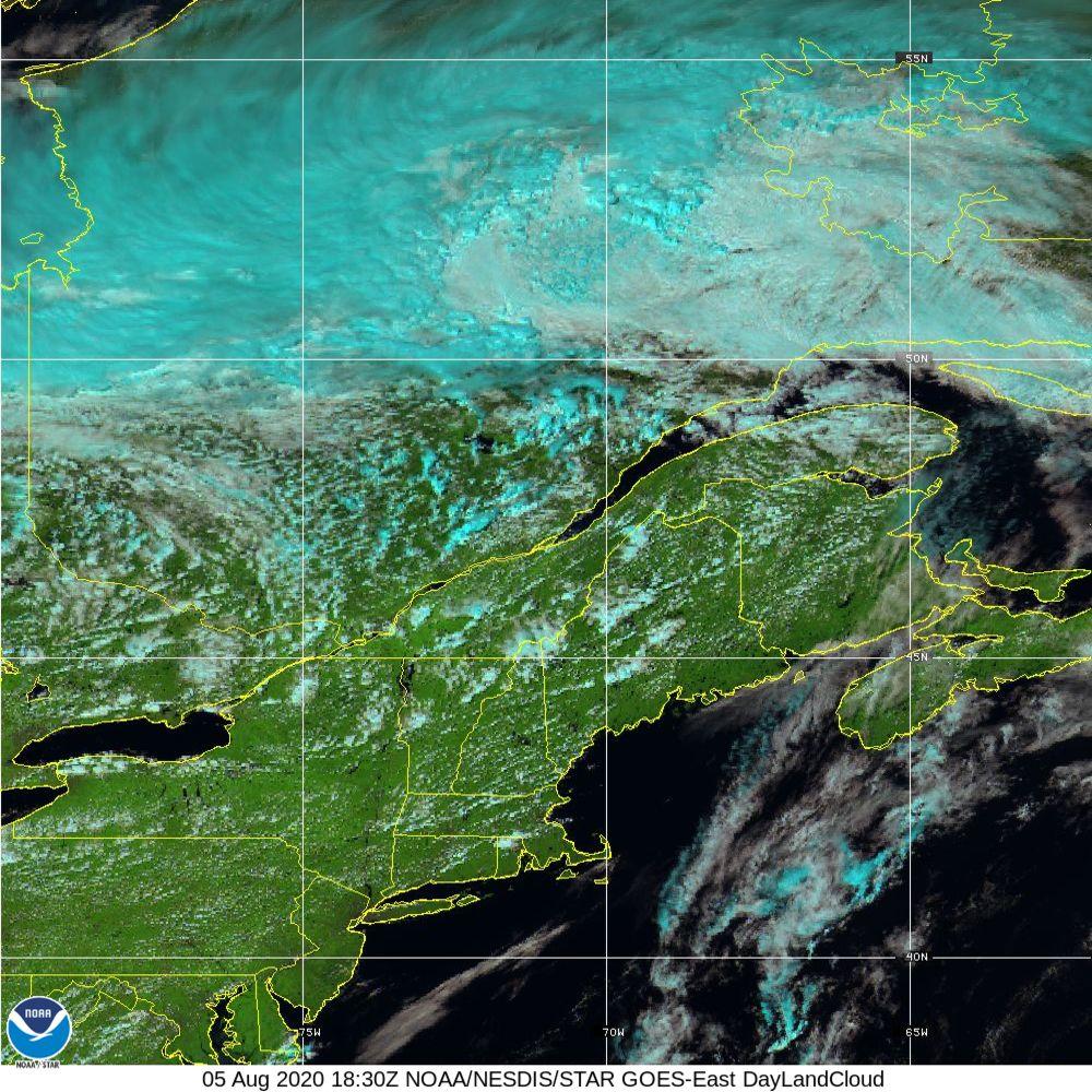 Day Land Cloud - EUMETSAT Natural Color - 05 Aug 2020 - 1830 UTC