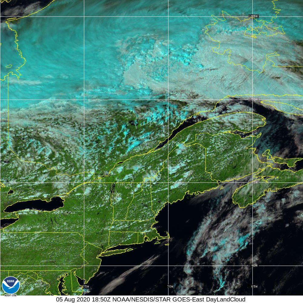 Day Land Cloud - EUMETSAT Natural Color - 05 Aug 2020 - 1850 UTC