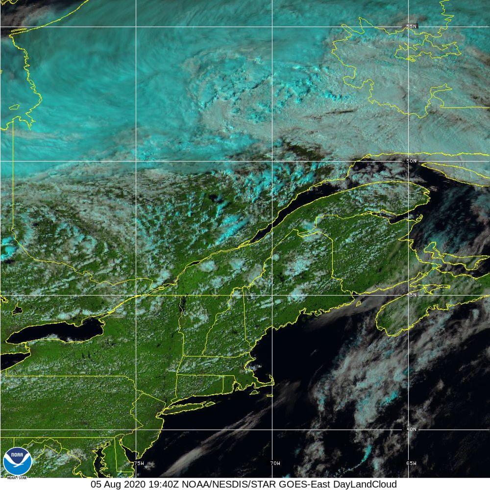 Day Land Cloud - EUMETSAT Natural Color - 05 Aug 2020 - 1940 UTC