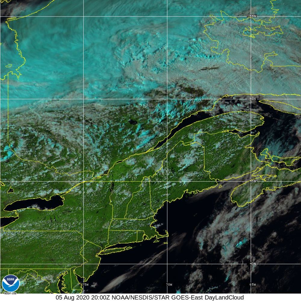 Day Land Cloud - EUMETSAT Natural Color - 05 Aug 2020 - 2000 UTC