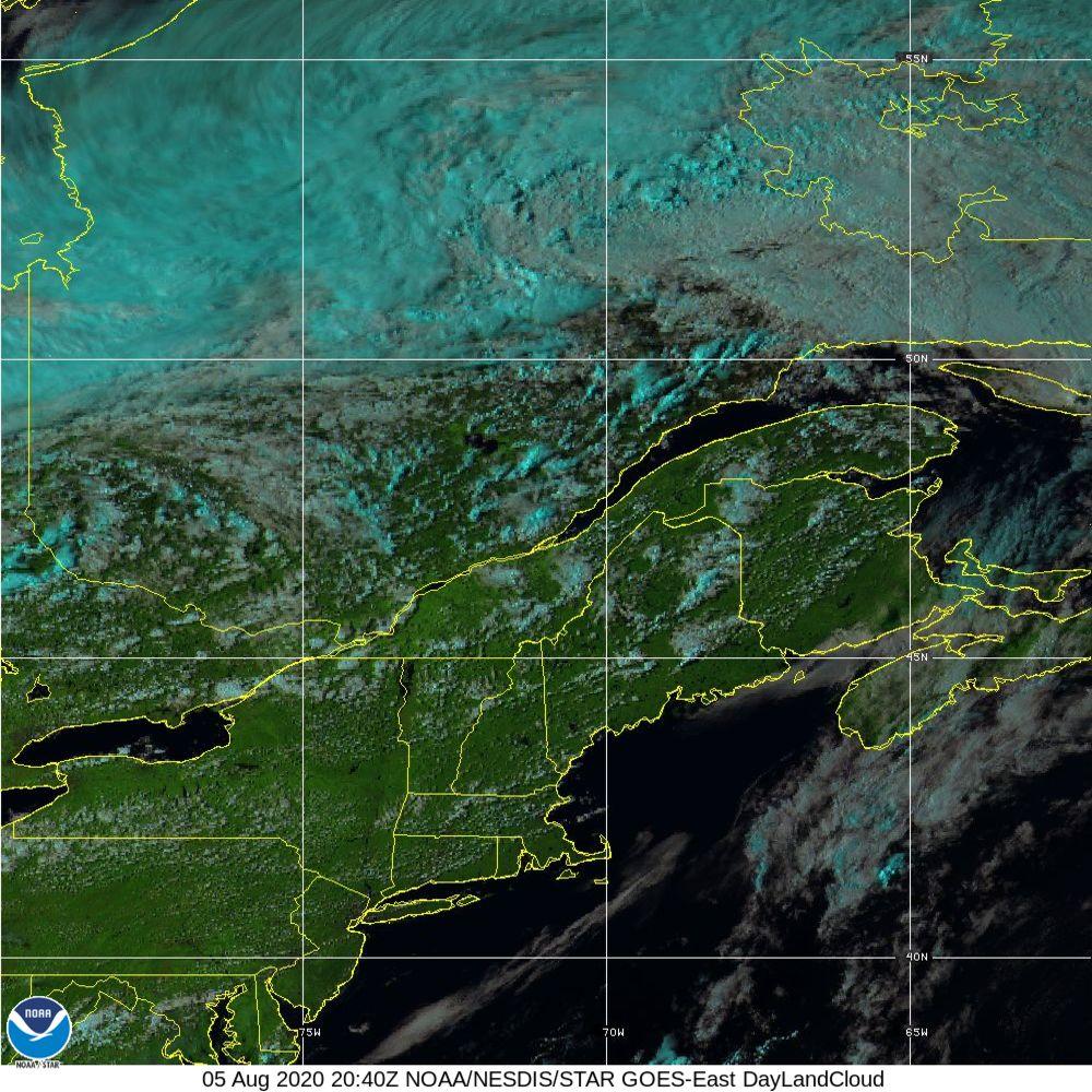 Day Land Cloud - EUMETSAT Natural Color - 05 Aug 2020 - 2040 UTC
