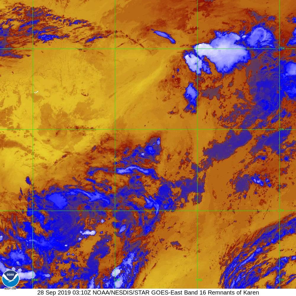 Band 16 - 13.3 µm - CO₂ Longwave - IR - 28 Sep 2019 - 0310 UTC
