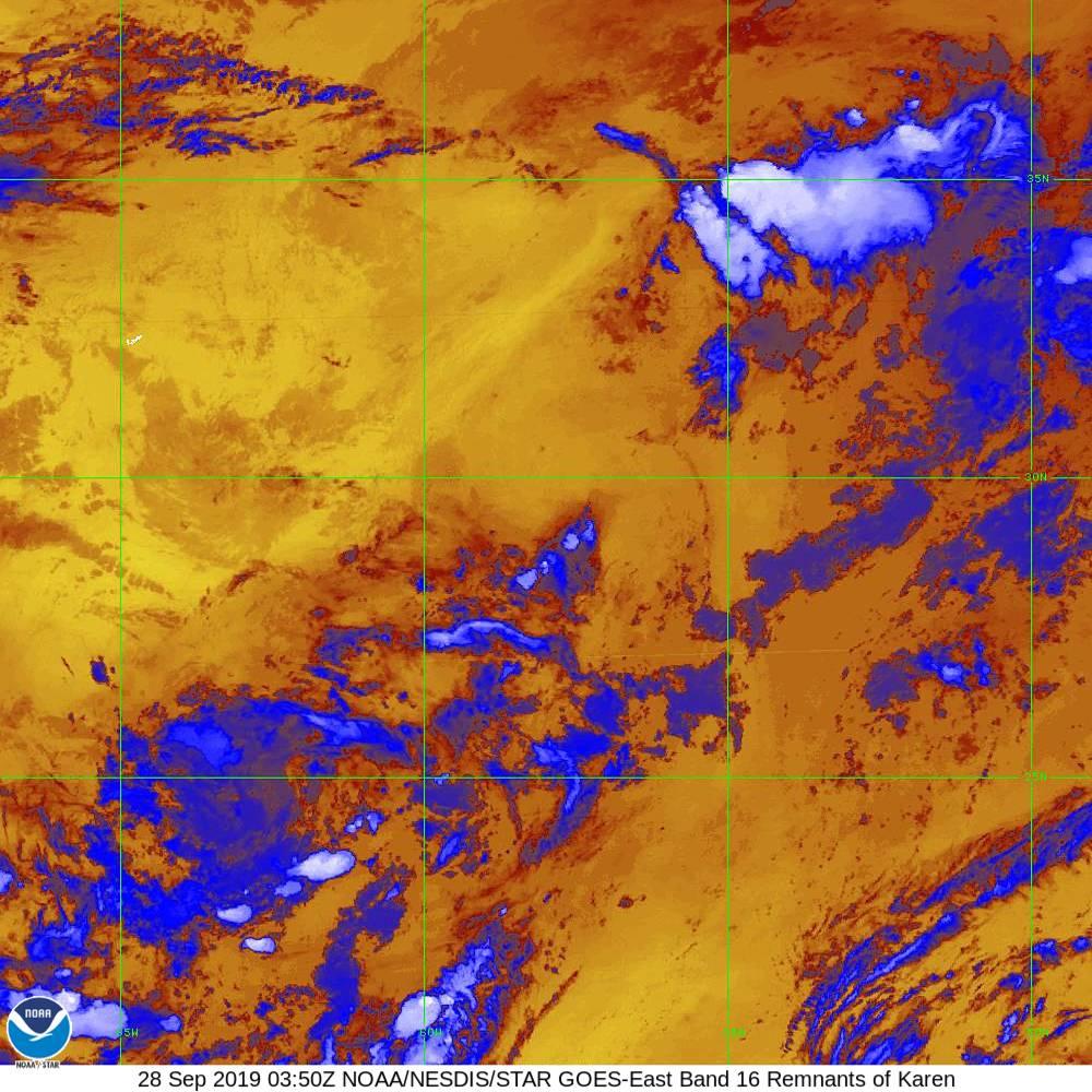 Band 16 - 13.3 µm - CO₂ Longwave - IR - 28 Sep 2019 - 0350 UTC