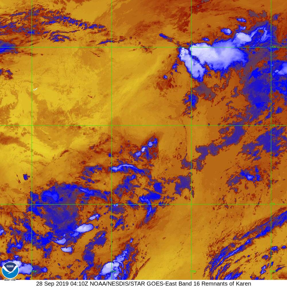 Band 16 - 13.3 µm - CO₂ Longwave - IR - 28 Sep 2019 - 0410 UTC