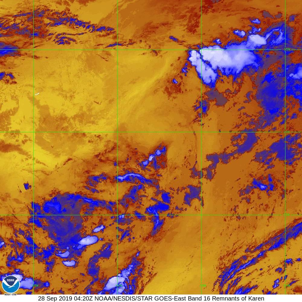 Band 16 - 13.3 µm - CO₂ Longwave - IR - 28 Sep 2019 - 0420 UTC