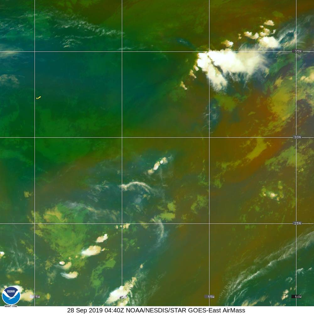 Air Mass - RGB composite based on the data from IR and WV - 28 Sep 2019 - 0440 UTC