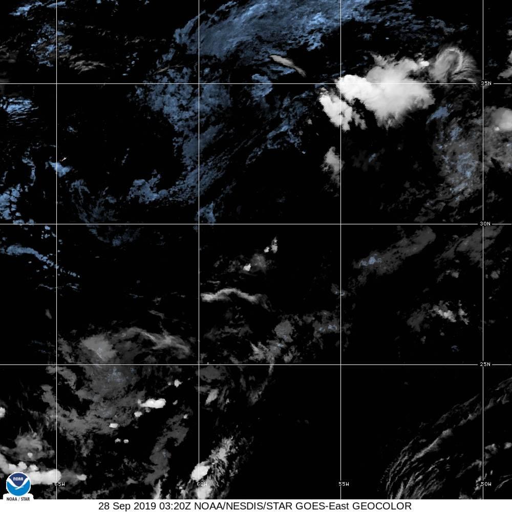 GeoColor - True Color daytime, multispectral IR at night - 28 Sep 2019 - 0320 UTC