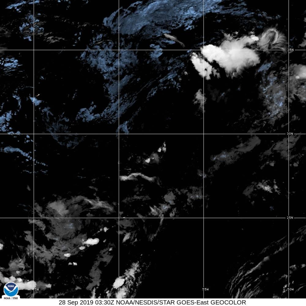 GeoColor - True Color daytime, multispectral IR at night - 28 Sep 2019 - 0330 UTC