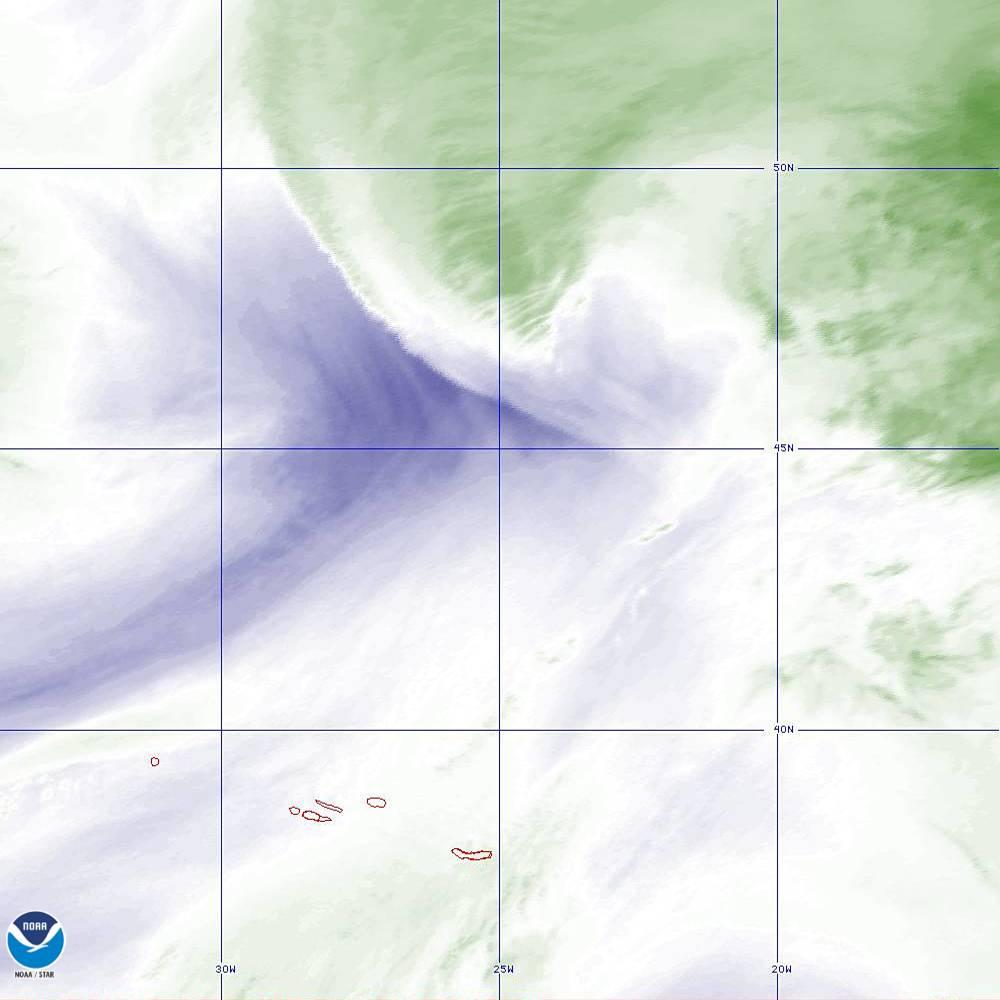 Band 8 - 6.2 µm - Upper-Level Water Vapor - IR  - 02 Oct 2019 - 1900 UTC