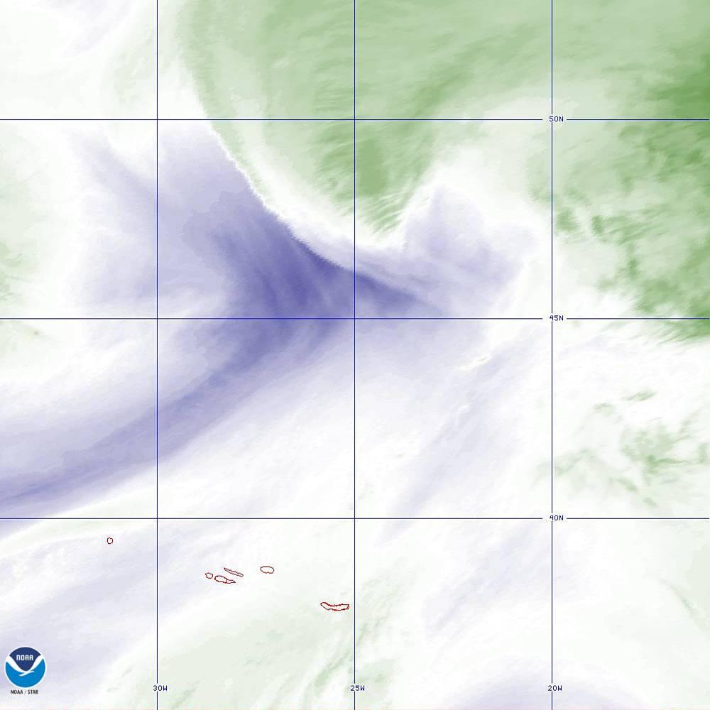 Band 8 - 6.2 µm - Upper-Level Water Vapor - IR  - 02 Oct 2019 - 1920 UTC