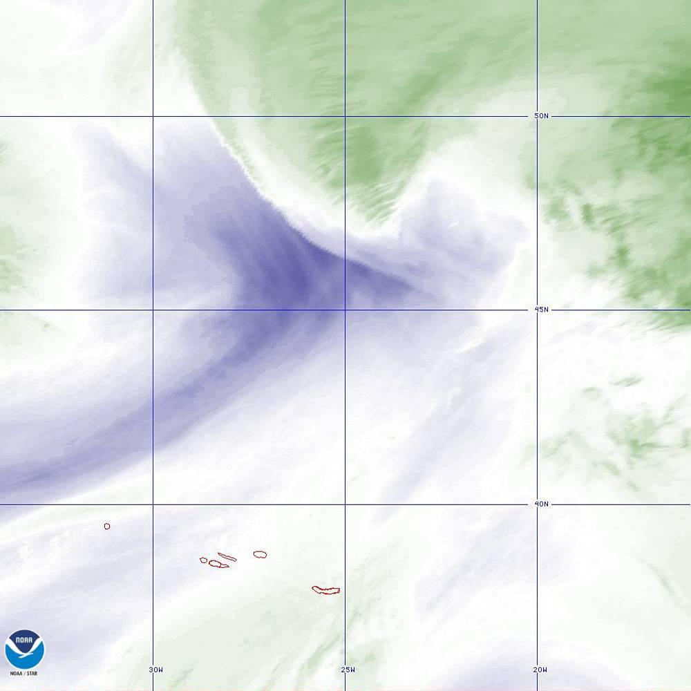 Band 8 - 6.2 µm - Upper-Level Water Vapor - IR  - 02 Oct 2019 - 1930 UTC