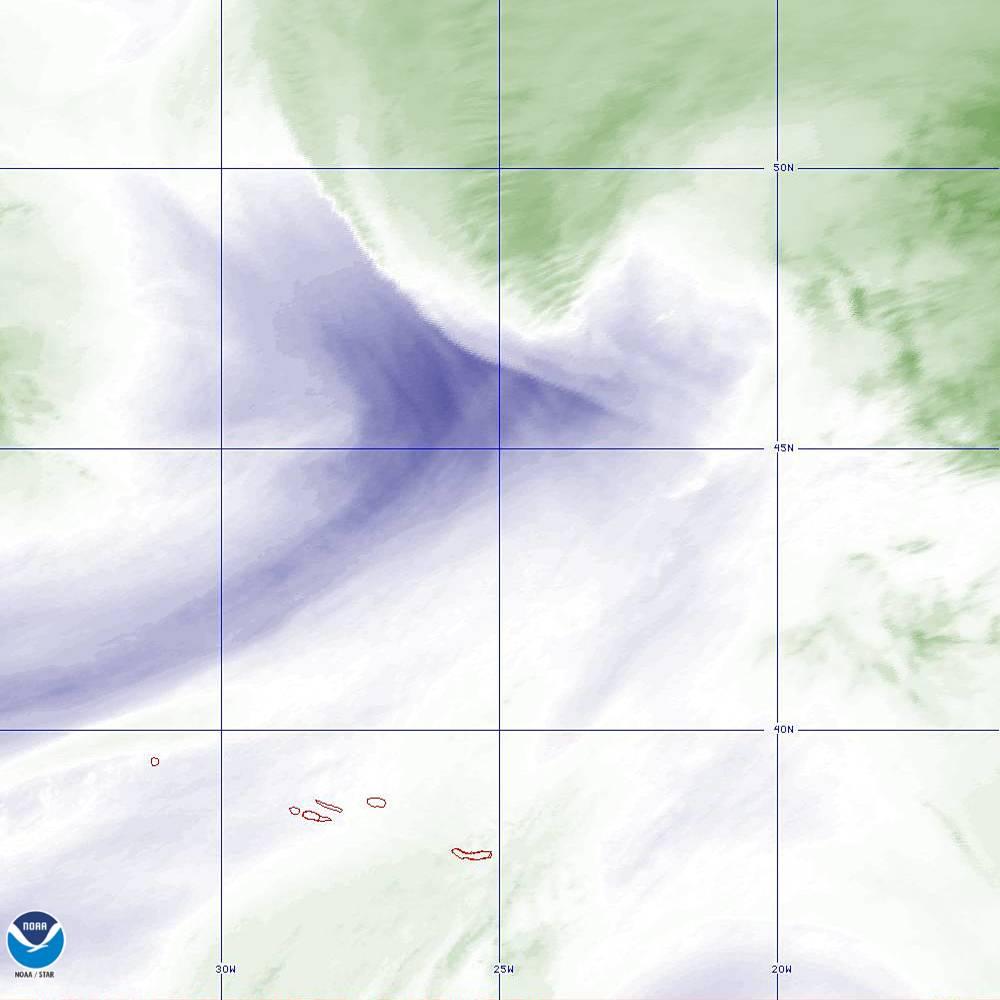 Band 8 - 6.2 µm - Upper-Level Water Vapor - IR  - 02 Oct 2019 - 1940 UTC