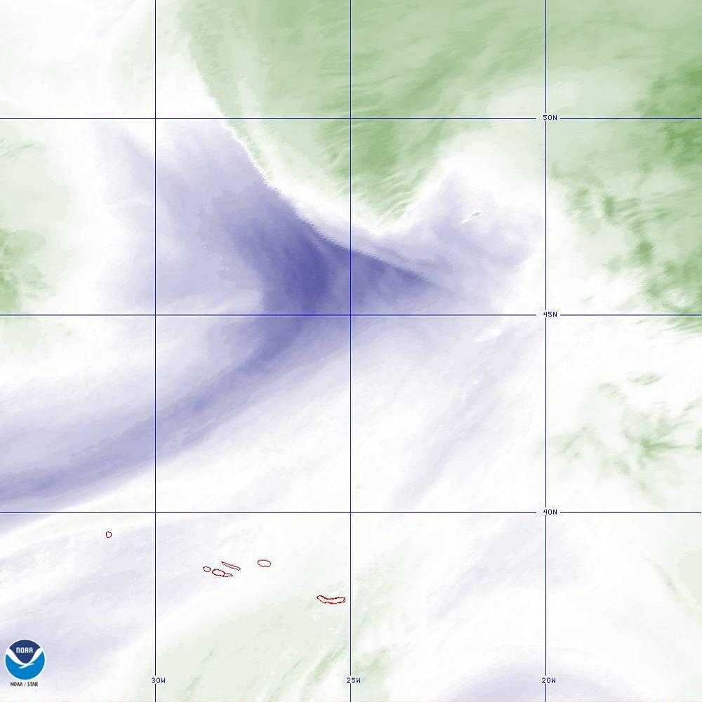 Band 8 - 6.2 µm - Upper-Level Water Vapor - IR  - 02 Oct 2019 - 1950 UTC