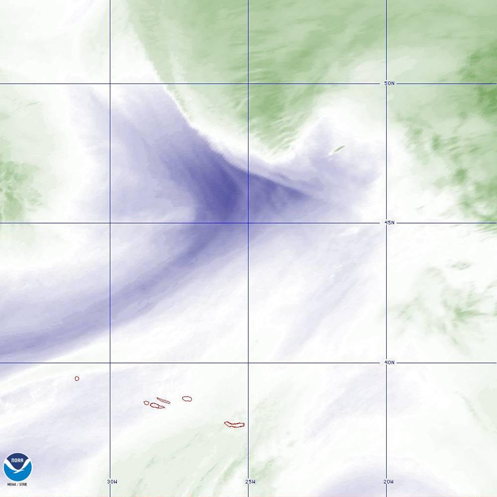 Band 8 - 6.2 µm - Upper-Level Water Vapor - IR  - 02 Oct 2019 - 2000 UTC