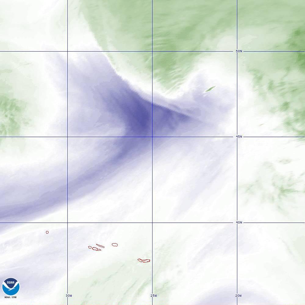 Band 8 - 6.2 µm - Upper-Level Water Vapor - IR  - 02 Oct 2019 - 2010 UTC