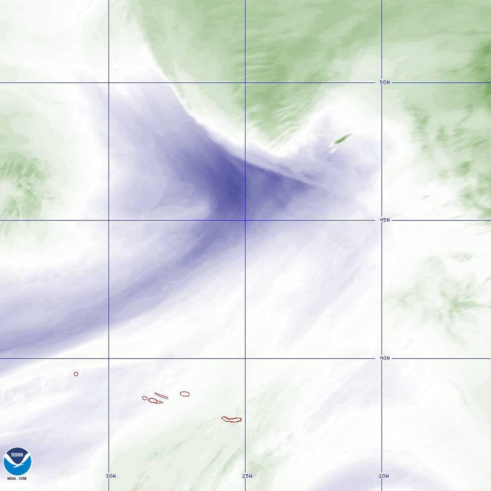 Band 8 - 6.2 µm - Upper-Level Water Vapor - IR  - 02 Oct 2019 - 2020 UTC