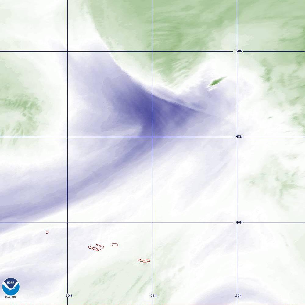 Band 8 - 6.2 µm - Upper-Level Water Vapor - IR  - 02 Oct 2019 - 2040 UTC