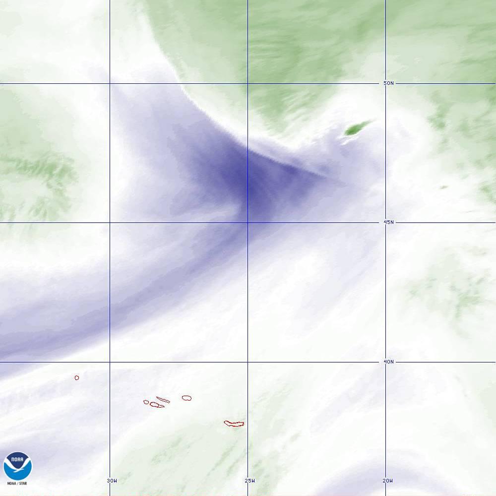 Band 8 - 6.2 µm - Upper-Level Water Vapor - IR  - 02 Oct 2019 - 2050 UTC