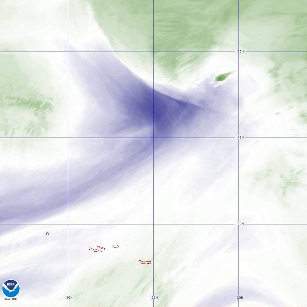 Band 8 - 6.2 µm - Upper-Level Water Vapor - IR  - 02 Oct 2019 - 2100 UTC