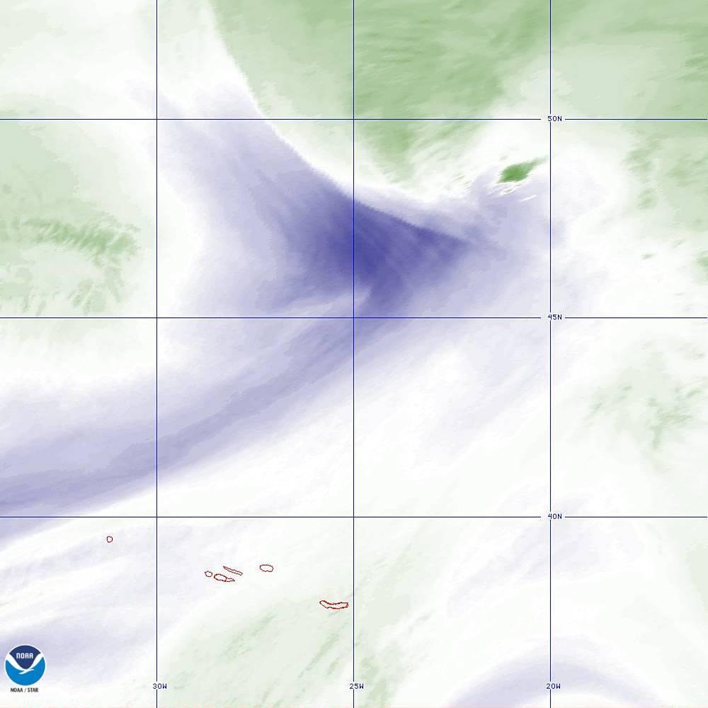 Band 8 - 6.2 µm - Upper-Level Water Vapor - IR  - 02 Oct 2019 - 2110 UTC