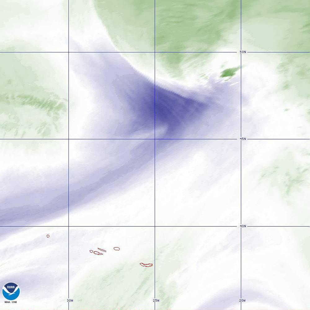 Band 8 - 6.2 µm - Upper-Level Water Vapor - IR  - 02 Oct 2019 - 2120 UTC