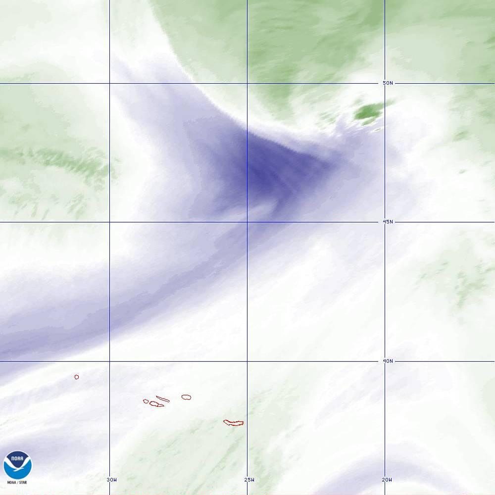 Band 8 - 6.2 µm - Upper-Level Water Vapor - IR  - 02 Oct 2019 - 2130 UTC