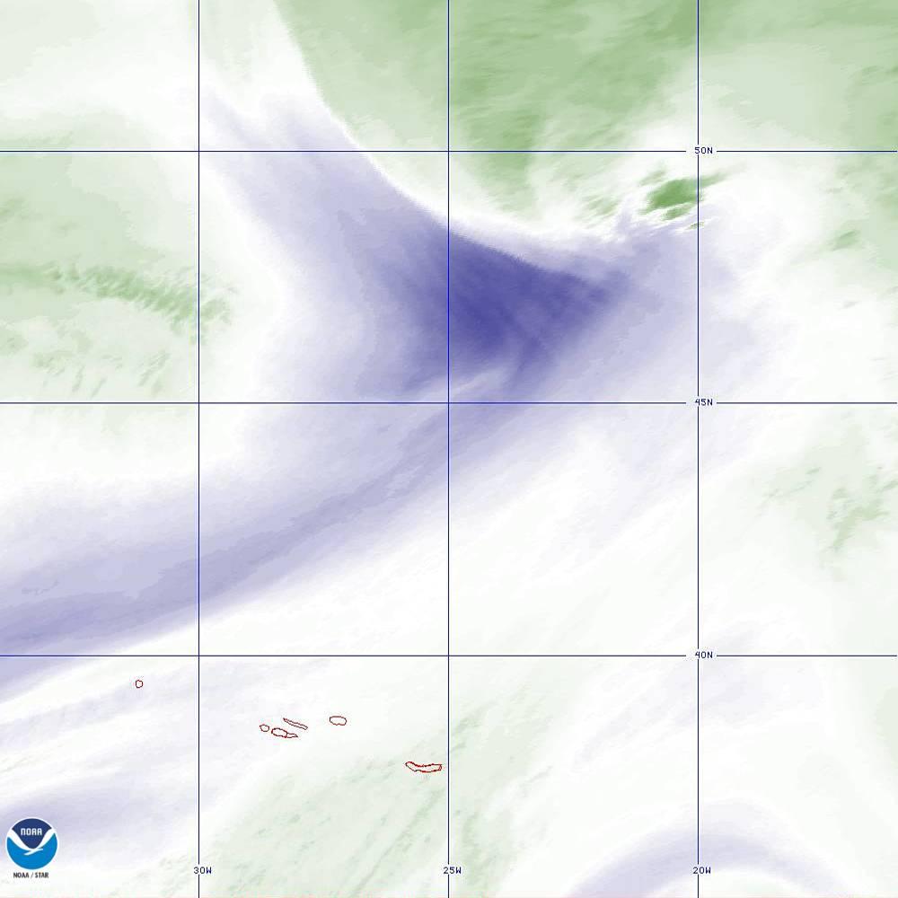Band 8 - 6.2 µm - Upper-Level Water Vapor - IR  - 02 Oct 2019 - 2140 UTC