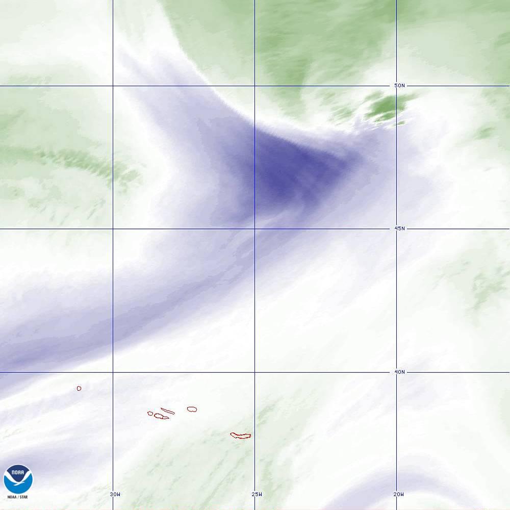 Band 8 - 6.2 µm - Upper-Level Water Vapor - IR  - 02 Oct 2019 - 2150 UTC