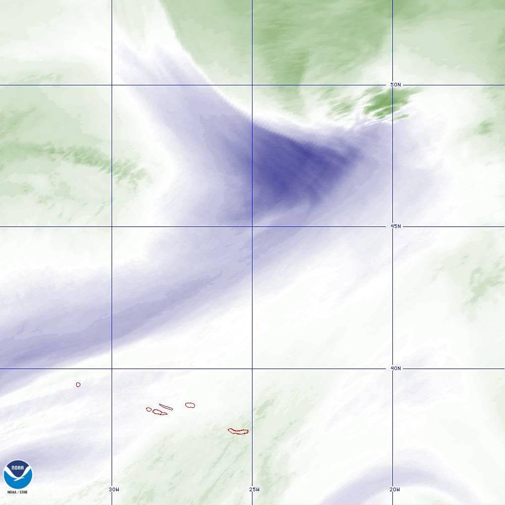 Band 8 - 6.2 µm - Upper-Level Water Vapor - IR  - 02 Oct 2019 - 2200 UTC