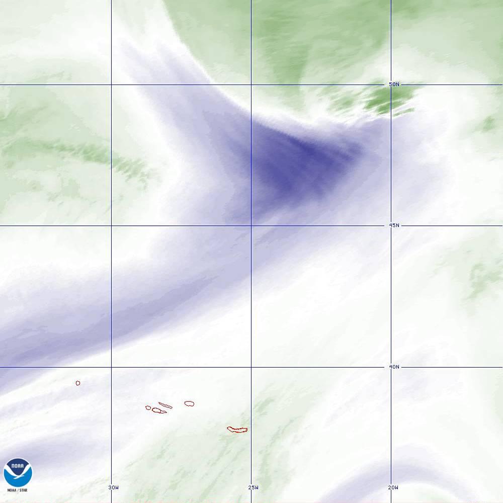 Band 8 - 6.2 µm - Upper-Level Water Vapor - IR  - 02 Oct 2019 - 2210 UTC