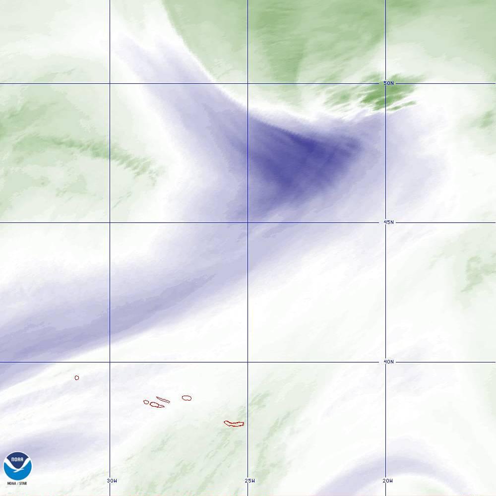 Band 8 - 6.2 µm - Upper-Level Water Vapor - IR  - 02 Oct 2019 - 2220 UTC