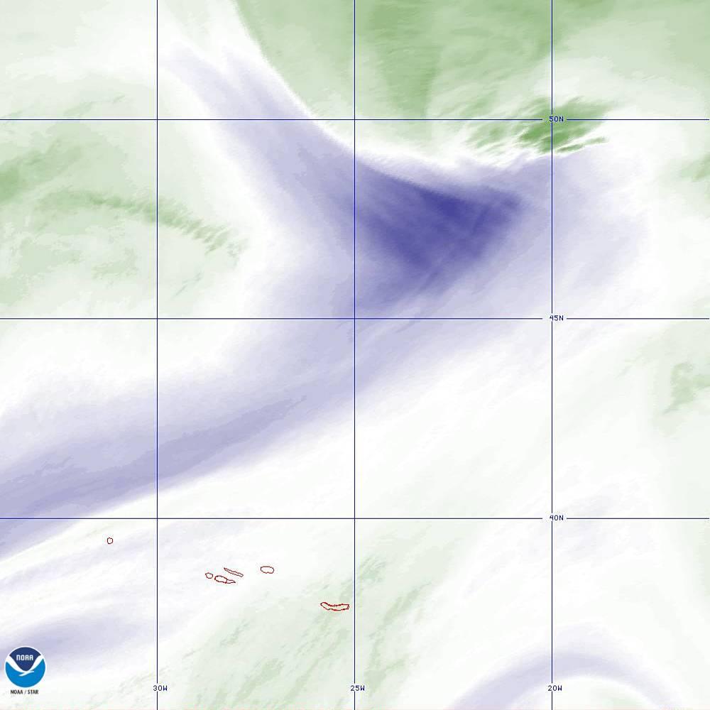 Band 8 - 6.2 µm - Upper-Level Water Vapor - IR  - 02 Oct 2019 - 2230 UTC