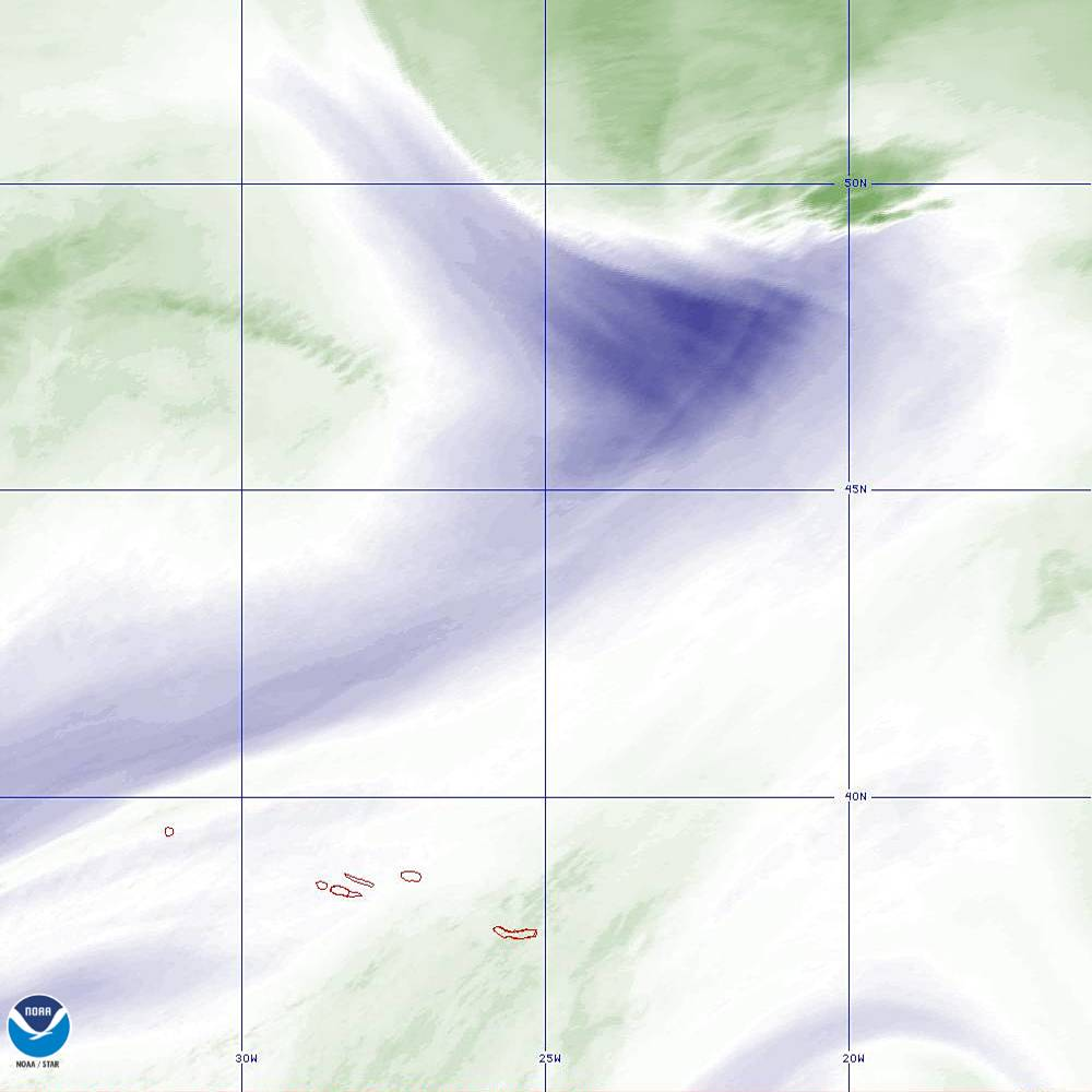 Band 8 - 6.2 µm - Upper-Level Water Vapor - IR  - 02 Oct 2019 - 2240 UTC
