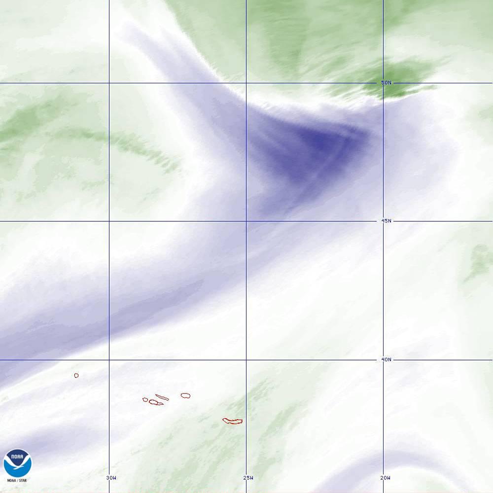 Band 8 - 6.2 µm - Upper-Level Water Vapor - IR  - 02 Oct 2019 - 2250 UTC