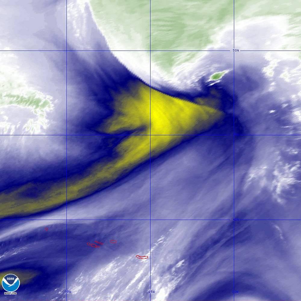 Band 9 - 6.9 µm - Mid-Level Water Vapor - IR  - 02 Oct 2019 - 2100 UTC
