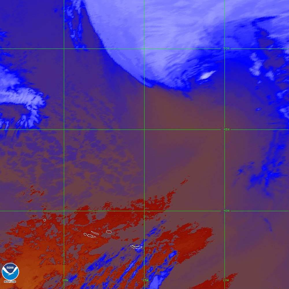 Band 16 - 13.3 µm - CO₂ Longwave - IR - 02 Oct 2019 - 2050 UTC