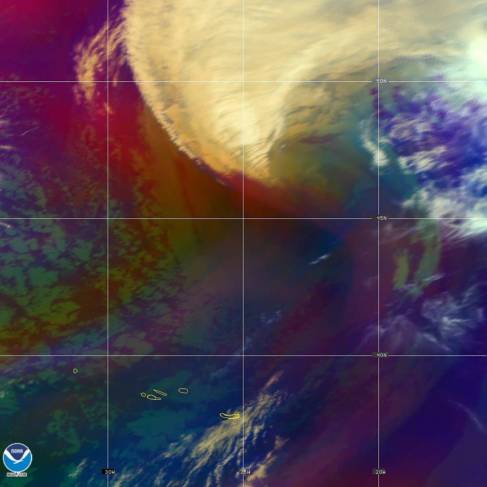 Air Mass - RGB composite based on the data from IR and WV - 02 Oct 2019 - 1900 UTC