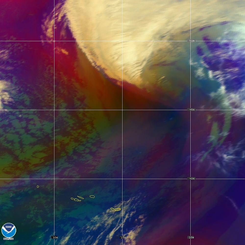 Air Mass - RGB composite based on the data from IR and WV - 02 Oct 2019 - 1940 UTC