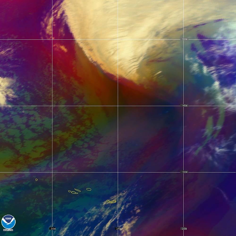 Air Mass - RGB composite based on the data from IR and WV - 02 Oct 2019 - 1950 UTC