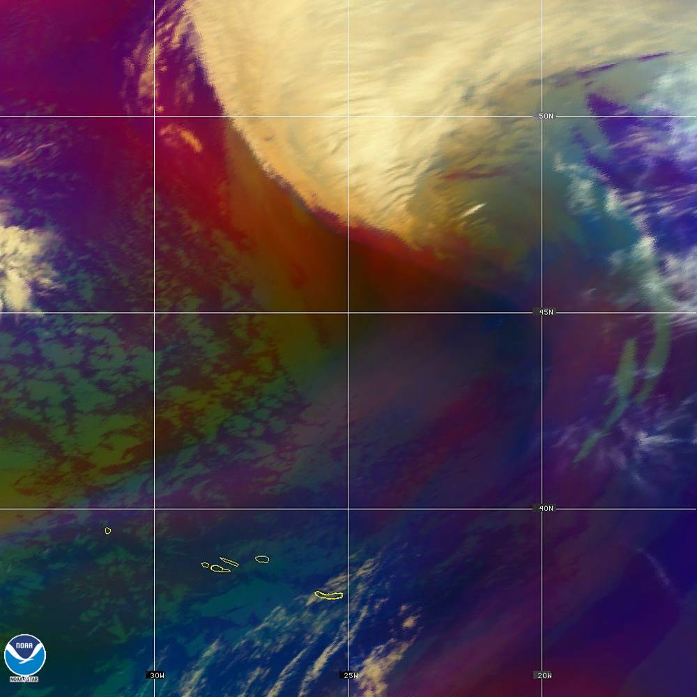 Air Mass - RGB composite based on the data from IR and WV - 02 Oct 2019 - 2000 UTC