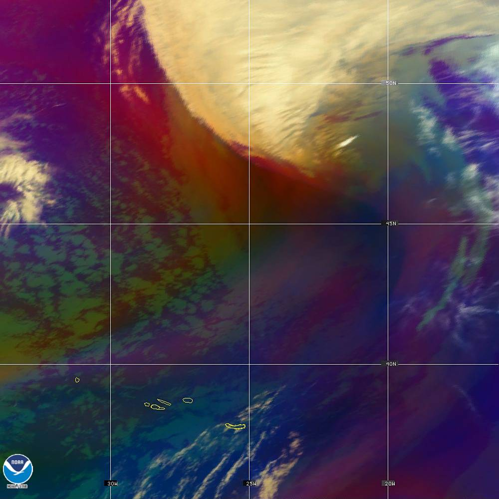 Air Mass - RGB composite based on the data from IR and WV - 02 Oct 2019 - 2020 UTC