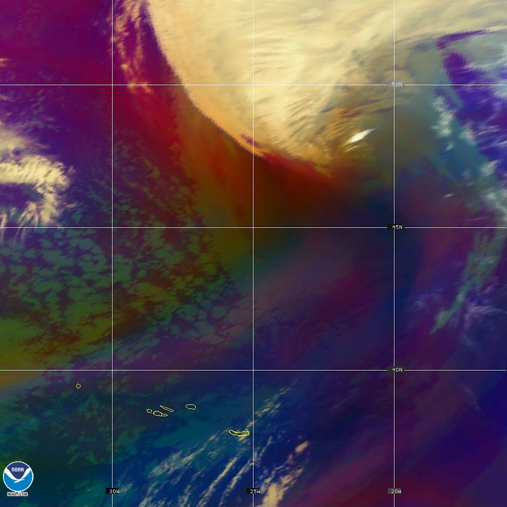 Air Mass - RGB composite based on the data from IR and WV - 02 Oct 2019 - 2040 UTC