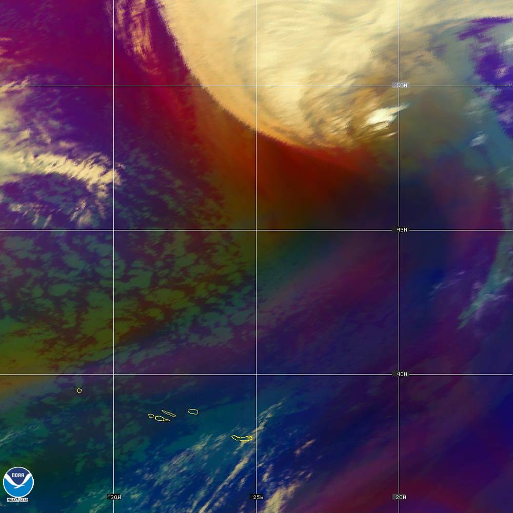 Air Mass - RGB composite based on the data from IR and WV - 02 Oct 2019 - 2130 UTC
