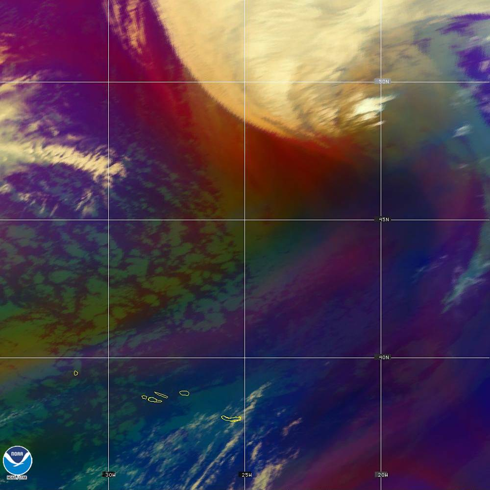 Air Mass - RGB composite based on the data from IR and WV - 02 Oct 2019 - 2140 UTC