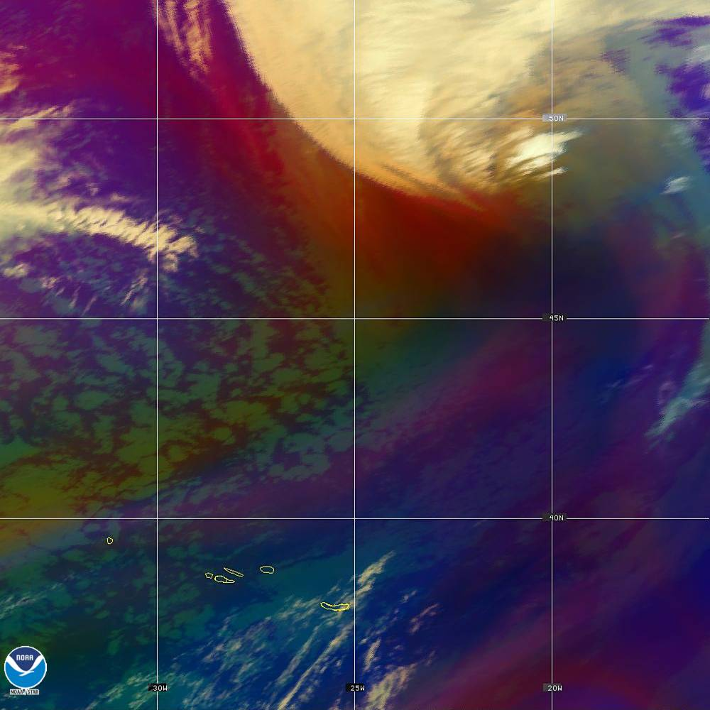 Air Mass - RGB composite based on the data from IR and WV - 02 Oct 2019 - 2150 UTC