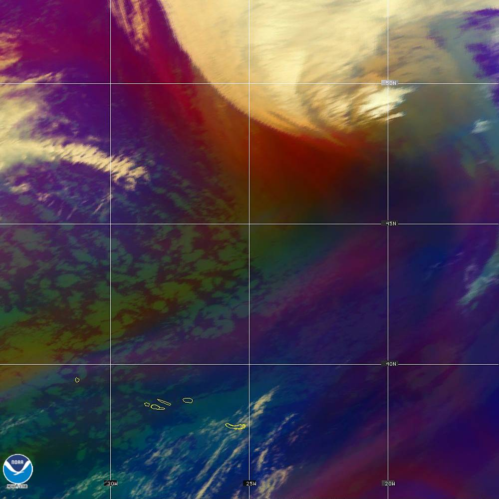 Air Mass - RGB composite based on the data from IR and WV - 02 Oct 2019 - 2200 UTC