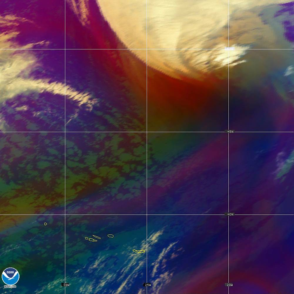 Air Mass - RGB composite based on the data from IR and WV - 02 Oct 2019 - 2220 UTC