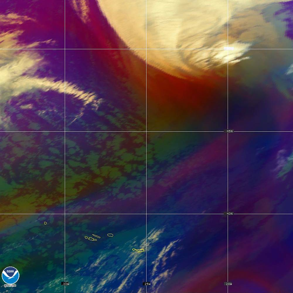 Air Mass - RGB composite based on the data from IR and WV - 02 Oct 2019 - 2230 UTC